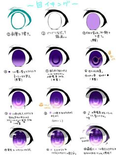 Hi there I Lately drew some CellShading, and thought, Hmm cellshading eye tutorial! ^^ it's all about layer modes and adding details! ^^ All colors are optional of course! ^^ I used dreamy purple t. Eye Drawing Tutorials, Digital Painting Tutorials, Digital Art Tutorial, Drawing Techniques, Art Tutorials, Anime Tutorial, Eye Tutorial, How To Draw Anime Eyes, Manga Eyes