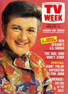 Liberace on the cover of TV Week, October 1971.