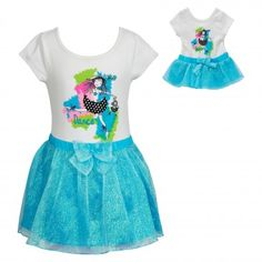 """""""Watercolor Dancer"""" Two Piece Leotard and Tutu Set with Matching Outfit for 18 inch Play Doll. Now on sale $18.75"""