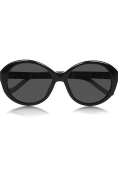 The Row~Cat eye oversized acetate sunglasses