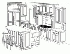 Kitchen Cabinet Design Drawing kitchen and breakfast elevation drawing: final ~ kristi lei