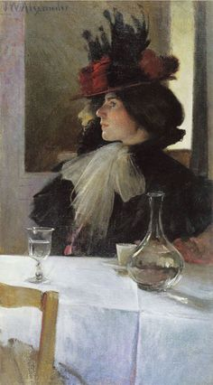 In the Cafe - John White Alexander, 1898