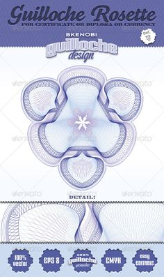 Gift certificate, Voucher template with guilloche pattern