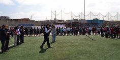 Inauguran cancha de futbol 7 en La Presa