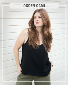 The Ogden Cami is a simple blouse that can either be worn on its own or as a layering piece under blazers and cardigans. It has a soft V neck at...