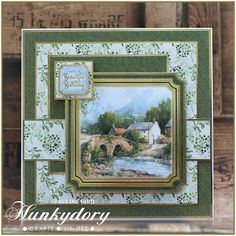 Crafting with Cotnob: Hunkydory Country Days Masculine Birthday Cards, Birthday Cards For Men, Handmade Birthday Cards, Greeting Cards Handmade, Card Making Kits, Making Ideas, Tonic Cards, Hunkydory Crafts, Gelli Plate Printing