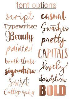 Fonts from GraphicRiver Letras Cool, Graphic Design Fonts, Gold Foil Print, Foil Prints, Calligraphy Fonts, Script Fonts, Lettering Tutorial, Handwriting Fonts, Logo Design Inspiration