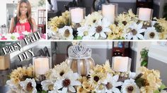 ♥ Glam Home ♥ Fall Dollar Tree DIY ♥ Centerpiece Makeover