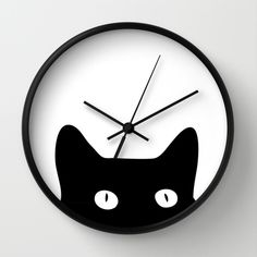 Buy Black Cat by Good Sense as a high quality Wall Clock. Worldwide shipping available at Society6.com. Just one of millions of products available.