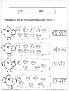 Kindergarten Math Worksheets, Teacher Worksheets, Preschool Education, Worksheets For Kids, Teaching Math, Preschool Activities, Preschool Spanish, Math For Kids, School Lessons