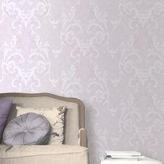Muriva Juliette Damask Wallpaper - Lilac - http://godecorating.co.uk/muriva-juliette-damask-wallpaper-lilac/