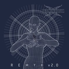 """Cover design for the 2017 """"Remyx remixes of our """"Shadow"""" album. A retroactive wireframe version of the """"Shadow"""" album cover, feat. vocalist Sonja, photography & post-prod by Dr-Benway. Logo design by Paul Blom. Wireframe, Cover Design, Cover Art, Album Covers, Logo Design, Artwork, Photography, Work Of Art, Photograph"""
