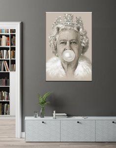 Queen Canvas Queen Bubblegum Print Woman Bubblegum art   Etsy Large Canvas Art, Amazing Decor, Canvas Prints, Art Prints, Custom Canvas, Photo Wall Art, Art Decor, Fantasy Art, Modern Art
