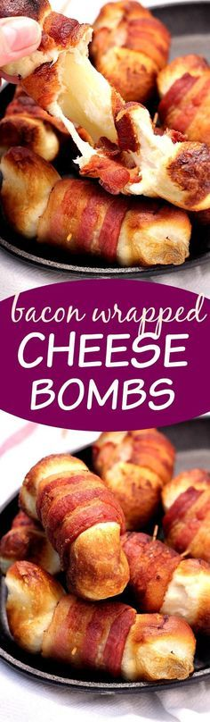 Bacon Wrapped Cheese Bombs – the appetizer that will make the party! Cheese…