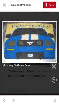 Car bday cake