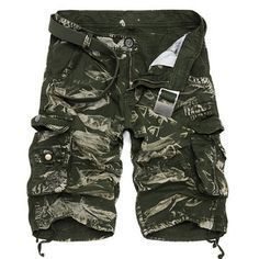 Summer Mens Cotton Cargo Shorts Casual Multi Pocket Shorts Pure Color Cargos… Be featured in Model Citizen App, Magazine and Blog. www.modelcitizenapp.com