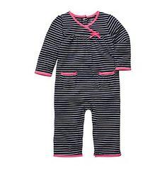 Carter's® Baby Girls' Navy/White Striped Footless Romper