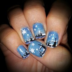 Dutch snowy #landscape nails stamping #infinity 79&81 nailart
