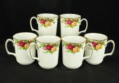 6 Royal Albert Old Country Roses Beaker Coffee Mugs 1st Quality VGC