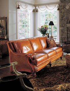 Leather pieces like this always make me crave caramel or oak-aged liquor. This time it's caramel. --MM-- Somerset Cane Sofa by Hancock & Moore