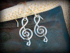 Treble Clef Earrings - Aluminum | BentNTwistedCreations - Jewelry on ArtFire $10.00 http://www.artfire.com/ext/shop/product_view/5592900
