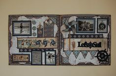 Jamies Happy Scrapping: Lets Sail - Summer Fun DBL Page Layout
