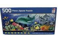 Dolphins, 500 Piece Jigsaw Puzzles, Plush, Adventure, Art, Art Background, Kunst, Adventure Movies, Performing Arts