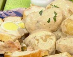 Matambre de pollo con papas a la huancaína