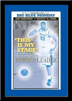Kentucky 2012 Player of the Year, Anthony Davis, Headlines Framed Framed Picture ready to hang in your sports fan room!