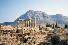 CORINTO -Desta cidade, Paulo escreveu sua epístola aos romanos.Principal cidade da província romana de Acaia. Localizava-se no istmo que ligava o Peloponeso com a Grécia continental, possuindo portos tanto a leste quanto a oeste. Era uma rica e influente cidade portuária.