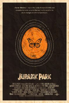 Famous Movie Posters Reimagined - Jurassic Park