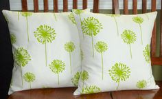 Decorative Accent Throw Pillow Covers  Two Lime Green by berly731, $39.99