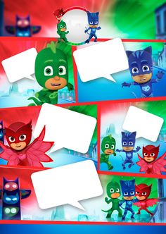 Uau! Veja o que temos para Convite-Gibi-PJ-Masks Imprimir