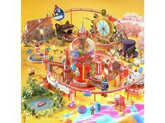 Reve Festival DAY 1 (Version) Red Velvet, Shops, Carnival Rides, Special Promotion, Photo Cards, Album Covers, Free Gifts, Entertaining, Anime