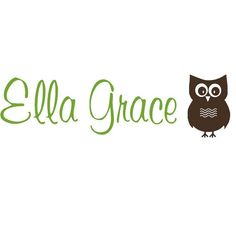 Wall Decal Personalized Owl Baby Name Girls by bluestreakdecals, $21.95