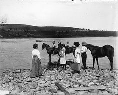 Calling the ferry, St. John River, NB, 1915--vintage everyday: Old Photographs of Canada from 1858-1935