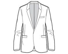 BLAZER unisex sketch adobe illustrator vector download: free on www.thefashionprofessor.com