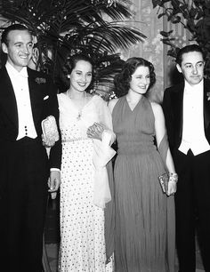 David Niven, Merle Oberon, Norma Shearer and Irving Thalberg as they attended the Mayfair Ball in the Victor Hugo Cafe in Beverly Hills, Calif.