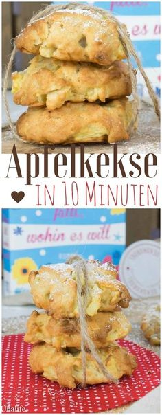 "Apple biscuits recipe & the new summer novel ""Life falls, w .- Apfelkekse Rezept & das neue Sommerroman ""Das Leben fällt, wohin es will"" Apple biscuits recipe and the book ""Life falls where it wants"" - Apple Recipes, Baking Recipes, Cookie Recipes, Dessert Recipes, Baking Hacks, Baking Desserts, Baking Tools, Cheesecake Recipes, Recipes Dinner"