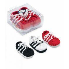 Hand Crocheted Soccer Shoe Booties Sneakers Baby Newborn Jefferies Socks Crib
