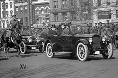 Warren G. Harding was the first President to ride in and drive a car