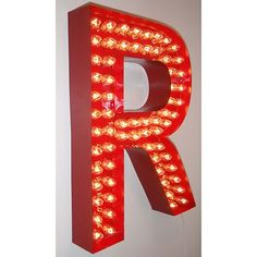 Letter R Metal Marquee Light Sign Vintage Industrial Inspired Home Theater Basement, Home Theater Rooms, Decorating Your Home, Decorating Houses, Cool Couches, Vintage Industrial, Vintage Glam, House By The Sea, Marquee Lights