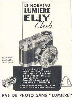 """""""Le nouveau Lumière Eljy Club"""" publié dans : Science et Vie, Numéro Hors Série Photo-Cinéma-Optique. Mars 1952."""