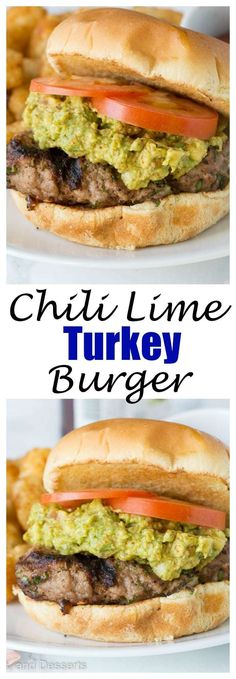 Chili Lime Turkey Burgers - Copycat version of Trader Joe's Chili Lime Burgers. Super easy, healthy, and great for summer grilling. Side Dish Recipes, Easy Dinner Recipes, Easy Meals, Paleo Dinner, Turkey Burger Recipes, Turkey Burgers, Grilling Recipes, Cooking Recipes, Healthy Recipes