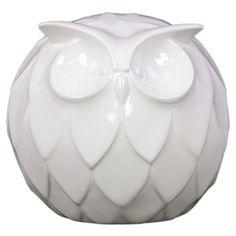 Ceramic+owl+statuette+in+white+with+a+textured+design.++Ceramic+owl+statue+in+white+with+a+textured+design.  +  Product:+Statuett...