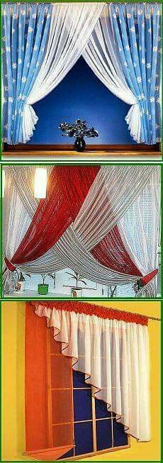 Why buy it when you can make it yourself? Find step-by-step instructions for making your own home decor, wedding decorations, and crafts including projects for . Curtains And Draperies, Modern Curtains, Hanging Curtains, Kitchen Curtains, Drapes Curtains, Curtain Designs, Curtain Styles, Window Coverings, Window Treatments