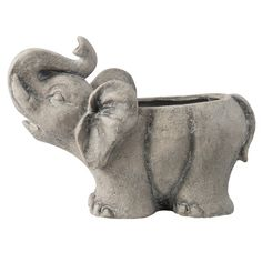 World Menagerie Firenze Magnesium Statue Planter Large Planters, Outdoor Planters, Planter Pots, Elephant Home Decor, Lush Garden, Organic Modern, Gentle Giant, Decoration, Elephant Planter
