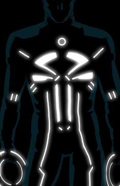 Marvel TRON_ifiés - Punisher - By Kris Anka
