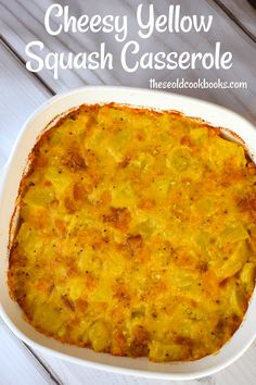 Kentucky Southern Squash Casserole Recipe - These Old Cookbooks #easysquashcasserole