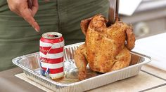 It's time to learn how to make the ultimate summer BBQ crowd-pleaser: beer can chicken. Buy a six-pack, use one for the bird, and drink the other five.